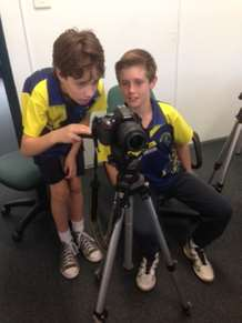 BSPS Student News film crew at work!